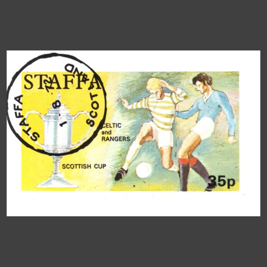 Staffa 1972 Scottish Cup, Celtic and Rangers Sheetlet (35p, CTO)