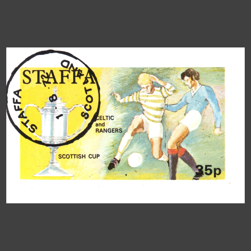 Staffa 1972 Scottish Cup, Celtic and Rangers Sheetlet (35p)