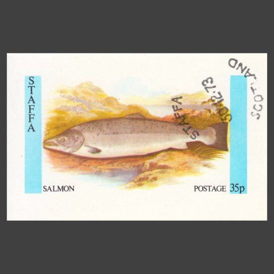 Staffa 1973 Salmon Sheetlet (35p, CTO)