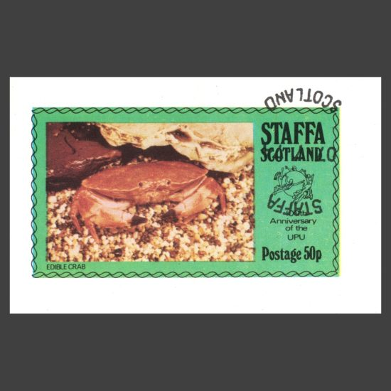 Staffa 1974 Crab / UPU Sheetlet (50p, CTO)