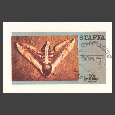Staffa 1974 Privet Hawk Moth Sheetlet (50p, CTO)