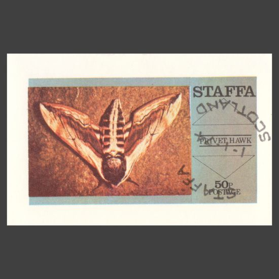 Staffa 1974 Privet Hawk Moth Sheetlet (50p, CTO)