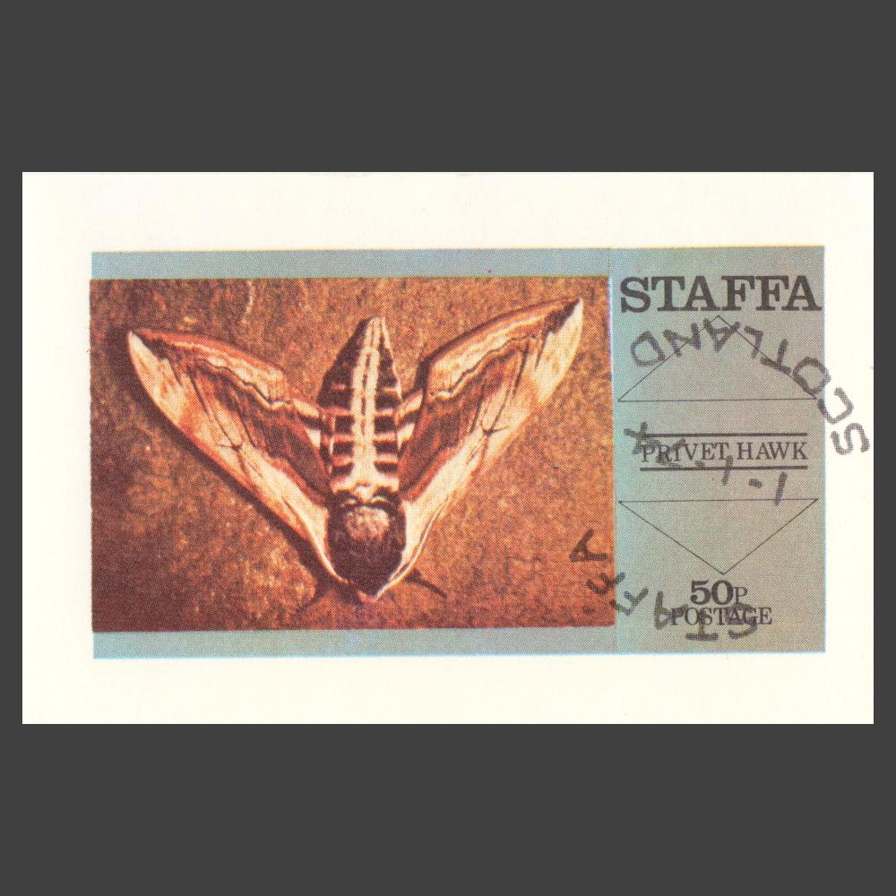 Staffa 1974 Privet Hawk Moth Sheetlet (50p)