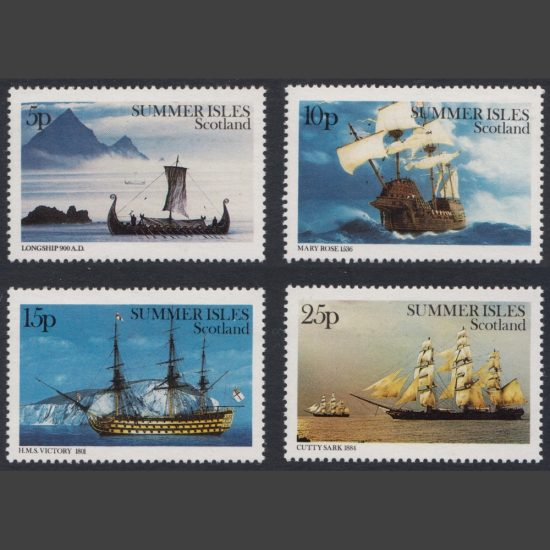 Summer Isles 1982 Maritime Britain (4v, 5p to 25p, U/M)