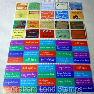 Great Britain Greetings Booklet Labels x80