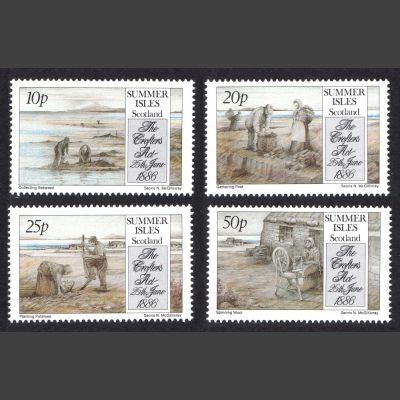 Summer Isles 1986 Crofters' Act Centenary (4v, 10p to 50p, U/M)