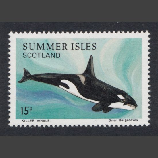 Summer Isles 1983 Killer Whale (15p - single value, U/M)