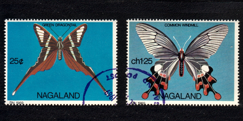 Cancelled-to-order (CTO) Cinderella stamps from Nagaland
