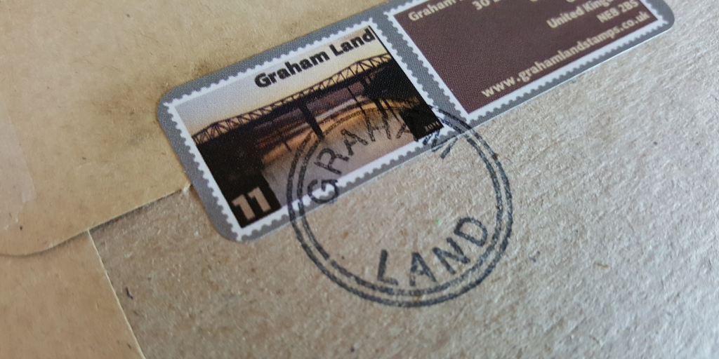 Postmarked 'Graham Land' label