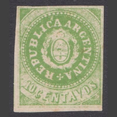 Argentina 1860s 'Small Shields' Forgery (10c)