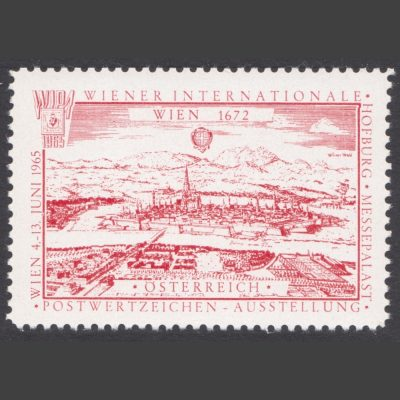 Austria 1965 WIPA Stamp Exhibition Label