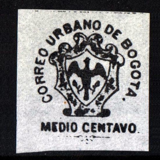Colombia 1⁄2c 'Bogota City Mail' Local Post Label (U/M)