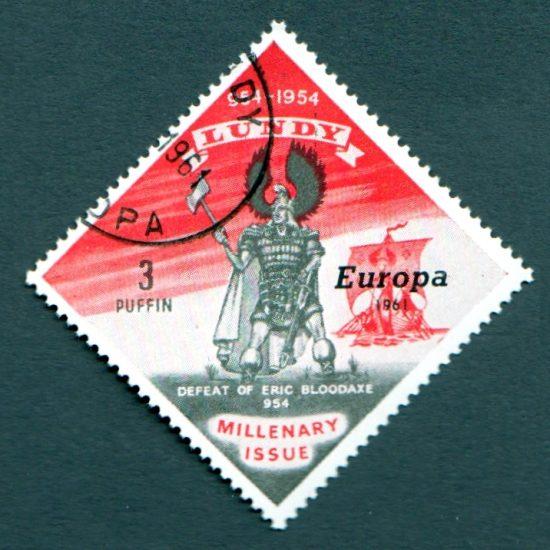 Lundy 1961 Europa (3p - single value, CTO)
