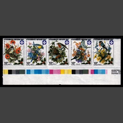 Woodseats Venture Unit (Sheffield Scout Post) 1986 Garden Birds Set (5x10p, U/M)