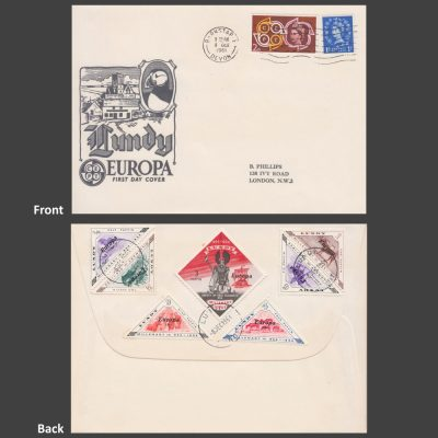 Lundy 1961 Europa First Day Cover (FDC) - Perforate Set on Generic Europa Cover