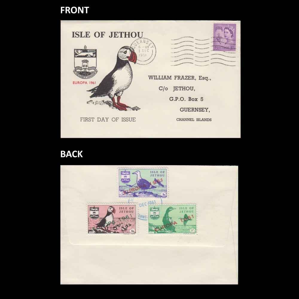 Isle of Jethou 1961 Europa Set First Day Cover (FDC) - Specific 'Isle of Jethou' Envelope