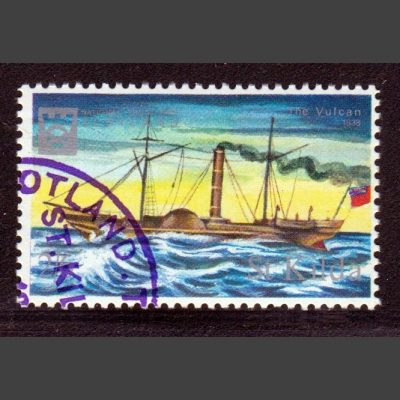 St Kilda 1967 'The Vulcan' Ship (2s6d - single value, CTO)