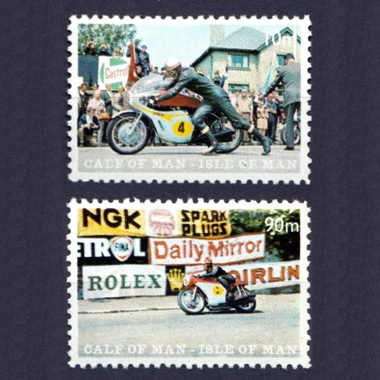 Calf of Man 1970 TT Races / Motorbikes Set (2v, 10m and 90m, M/M)