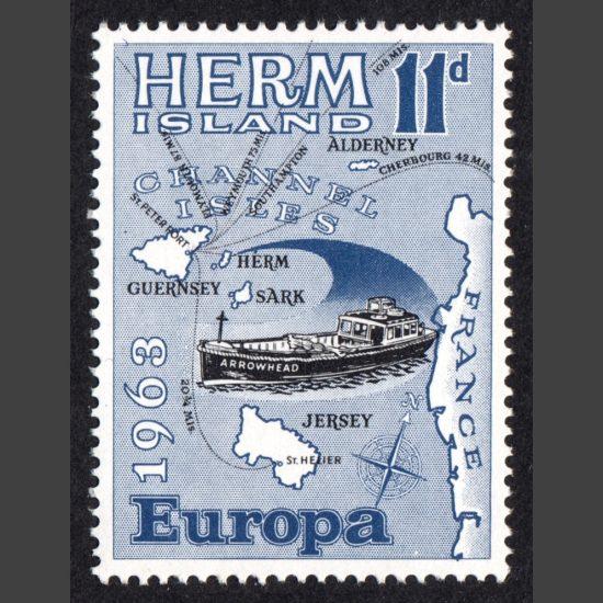 Herm Island1963 Europa (11d - single value, U/M)