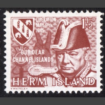 Herm Island 1965 Liberation Anniversary (1½d - single value)