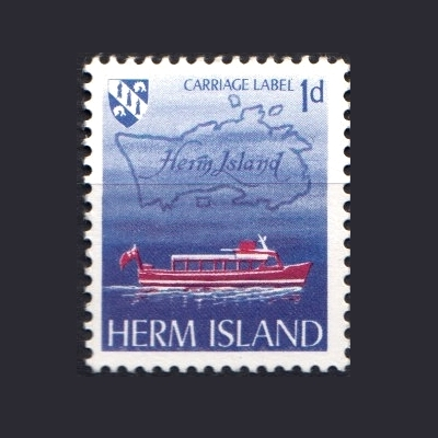 Herm Island 1969 Ship Definitive (1d - single value)