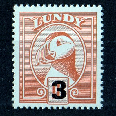Lundy 1989 Provisional Issue 3p Overprint on 10p Definitive (U/M)