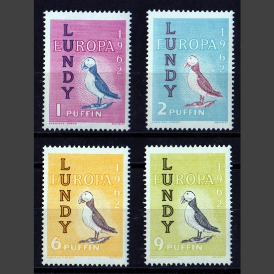 Lundy 1962 Europa Set (4v, 1p to 9p, U/M)