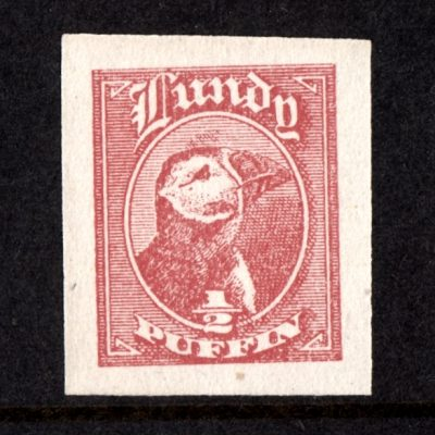 Lundy 1942 ½p Puffin Cut-Out from 'Tighearna' Miniature Sheet (U/M)