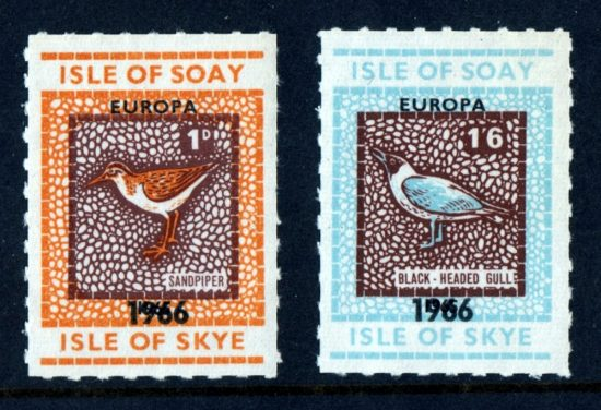 Soay 1966 Europa Part Set (2v, 1d and 1s6d, U/M)
