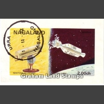 Nagaland 1972 Space Flight Sheetlet (2ch, CTO)