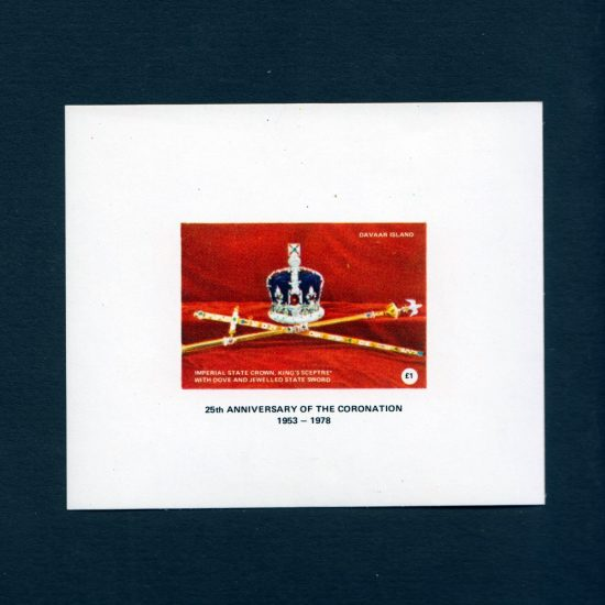 Davaar Island 1978 25th Anniversary of the Coronation Sheetlet (£1, U/M)