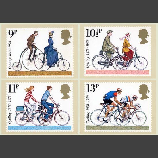 Postcards - Royal Mail PHQ 31 1978 British Cycling Set (4v)