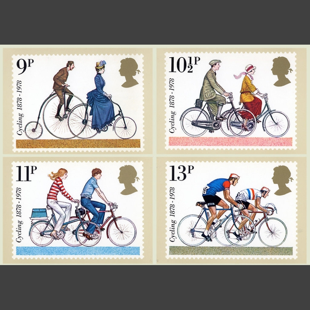 Postcards - Royal Mail PHQ 31 1978 British Cycling Set (4v)