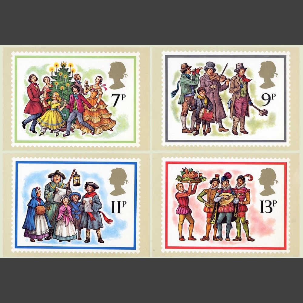 Postcards - Royal Mail PHQ 32 1978 Christmas Set (4v)