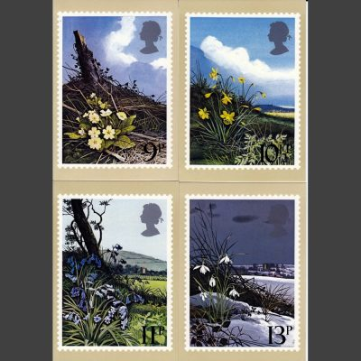 Postcards - Royal Mail PHQ 34 1979 Spring Wild Flowers (4v)
