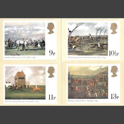 Postcards - Royal Mail PHQ 36 1979 Horseracing (4v)