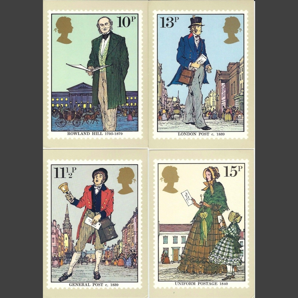 Postcards - Royal Mail PHQ 38 1979 Sir Rowland Hill (4v)