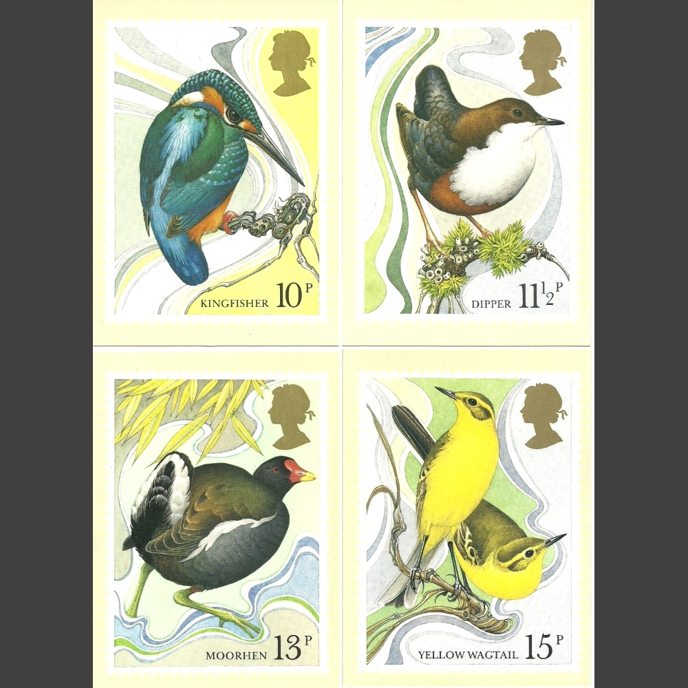 Postcards - Royal Mail PHQ 41 1980 British Birds (4v)
