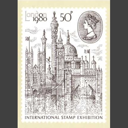 Postcard - Royal Mail PHQ 43a 1980 'London 1980' International Stamp Exhibition (1v)