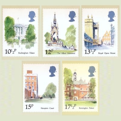 Postcards - Royal Mail PHQ 43b 1980 London Landmarks (5v)