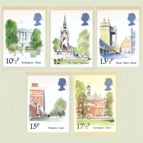 Postcards - Royal Mail PHQ 43b 1980 London Landmarks (5v)
