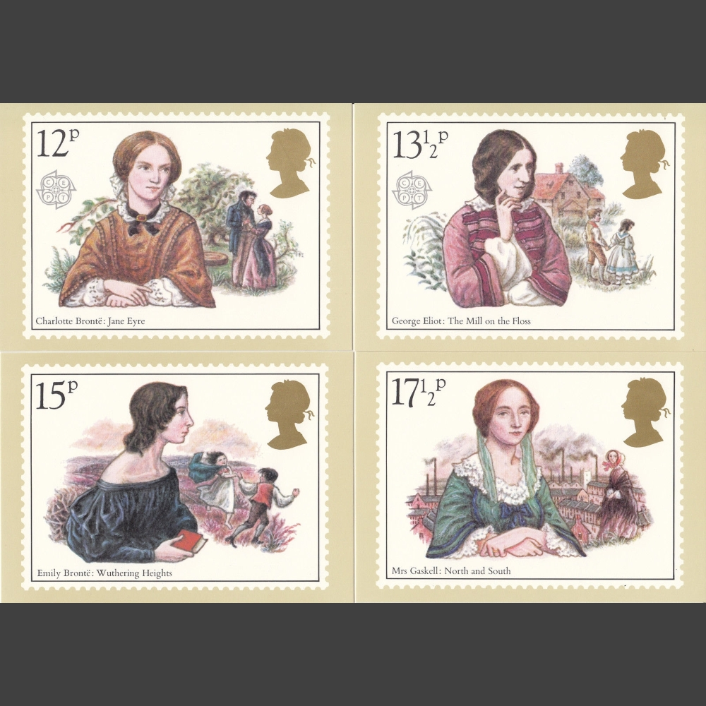 Postcards - Royal Mail PHQ 44 1980 Europa - Famous Authoresses (4v)