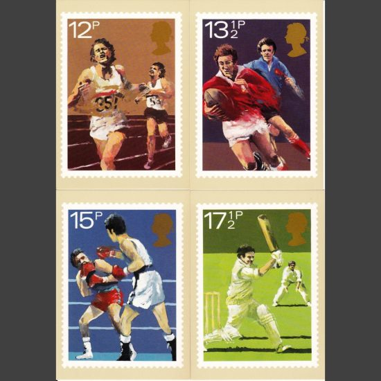 Postcards - Royal Mail PHQ 47 1980 Sport Centenaries (4v)