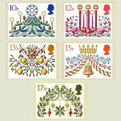 Postcards - Royal Mail PHQ 48 1980 Christmas (5v)