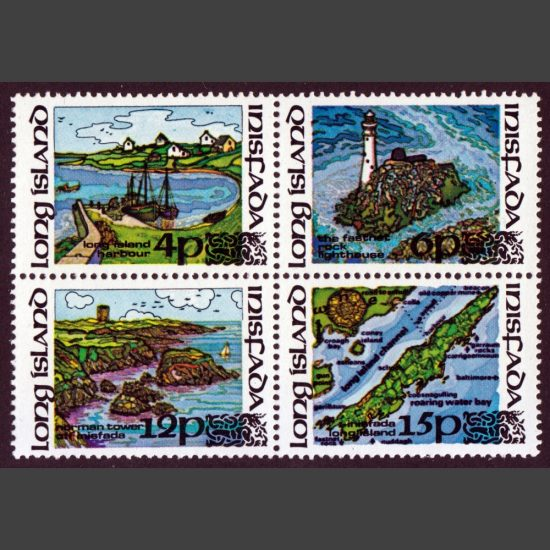 Long Island (Ireland) 1973 Local Carriage Issue (4v, 4p to 15p, U/M)