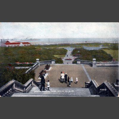 Valentine's 'Colourtone' Postcard - South Marine Park, South Shields - 1921