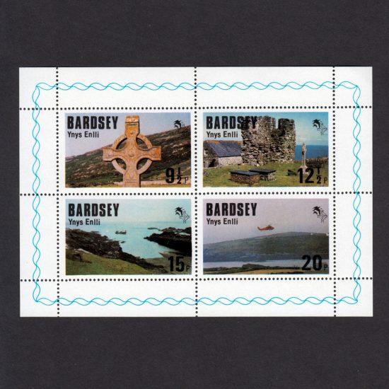 Bardsey 1980 Royal Visit of the Prince of Wales Set in Sheetlet (4v, 9½p to 20p, U/M)
