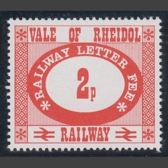 Vale of Rheidol Railway 1973 2p Definitive (U/M)