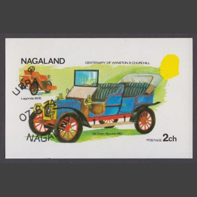 Nagaland 1974 1974 Churchill and Classic Cars Sheetlet (2ch, CTO)
