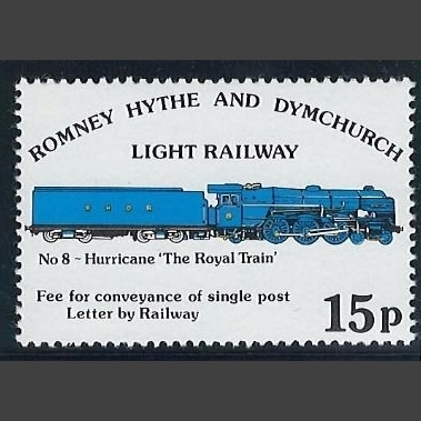 Romney, Hythe & Dymchurch Light Railway 1978 15p No. 8 Hurricane Definitive (U/M)